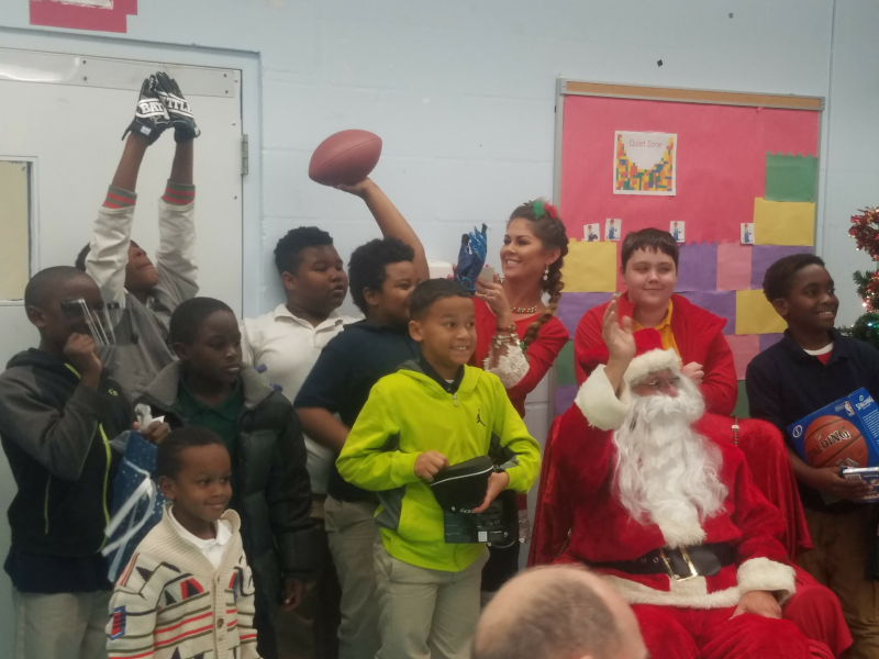 Santa at Dorothy Thomas School